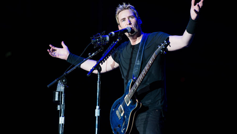 RIO DE JANEIRO, BRAZIL - SEPTEMBER 20:  Chad Kroeger of Nickelback performs on stage during a concert in the Rock in Rio Fest