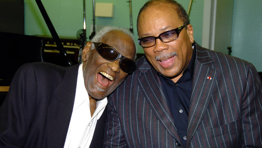 Ray Charles and Quincy Jones    (Photo by George Pimentel/WireImage for NARAS)