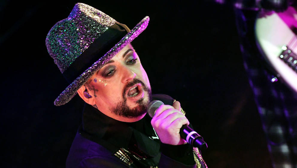 ORLANDO, FL - JULY 03:  Boy George of Culture Club performs at House of Blues Orlando on July 3, 2018 in Orlando, Florida.  (