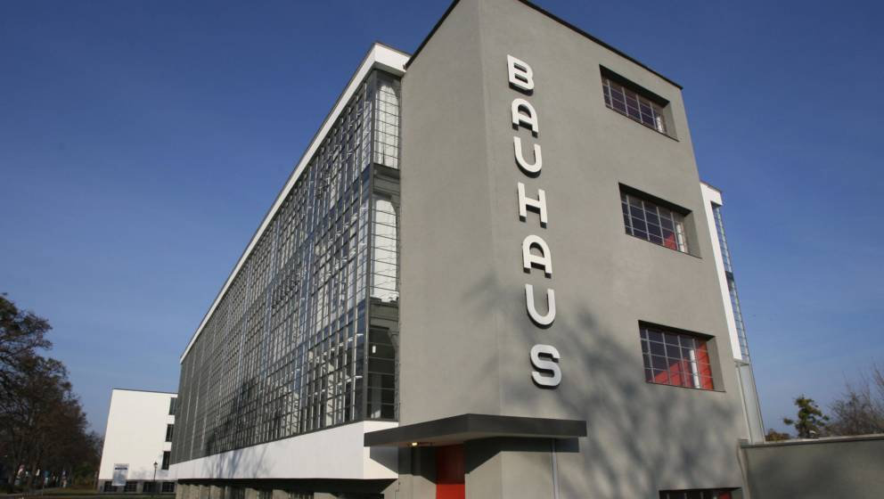 DESSAU, Germany:  View of one of the wings of the Bauhaus building in Dessau 30 November 2006. The building, which housed the