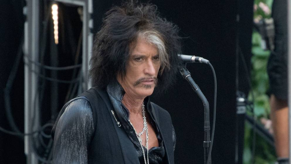 NEW YORK, NY - AUGUST 15:Joe Perry of Aerosmith performs live on NBC's 'Today' at Rockefeller Plaza on August 15, 2018 in New