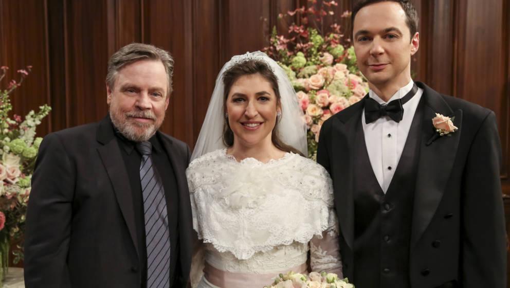Mark Hamill (als er selbst), Amy Farrah Fowler (Mayim Bialik) und Sheldon Cooper (Jim Parsons)