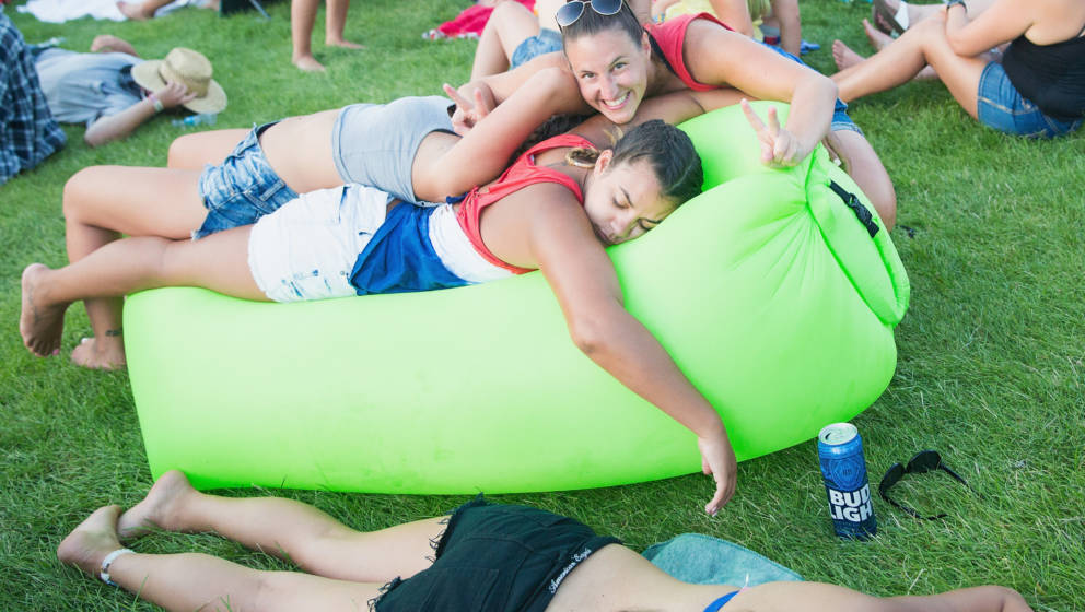 GEORGE, WA - JULY 29:  Fans sleep during the Watershed Music Festival at the Gorge Amphitheatre on July 29, 2017 in George, W