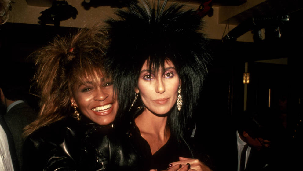NEW YORK, NY - CIRCA 1985: Tina Turner with Cher circa 1985 in New York City. (Photo by Robin Platzer/IMAGES/Getty Images)