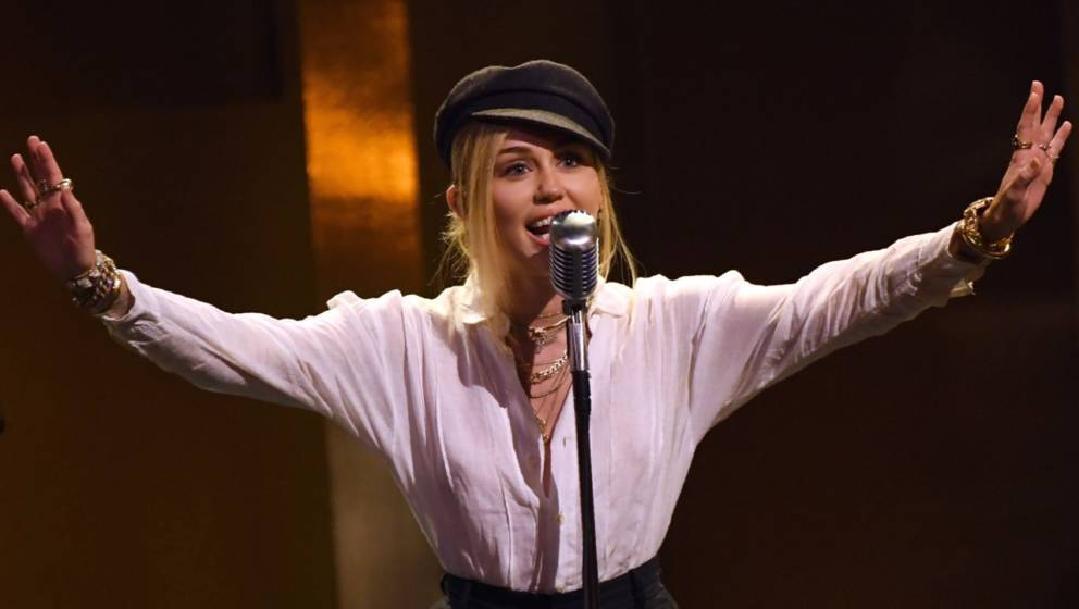US singer Miley Cyrus performs onstage during the 46th American Film Institute's Life Achievement Award Gala at the Dolby the