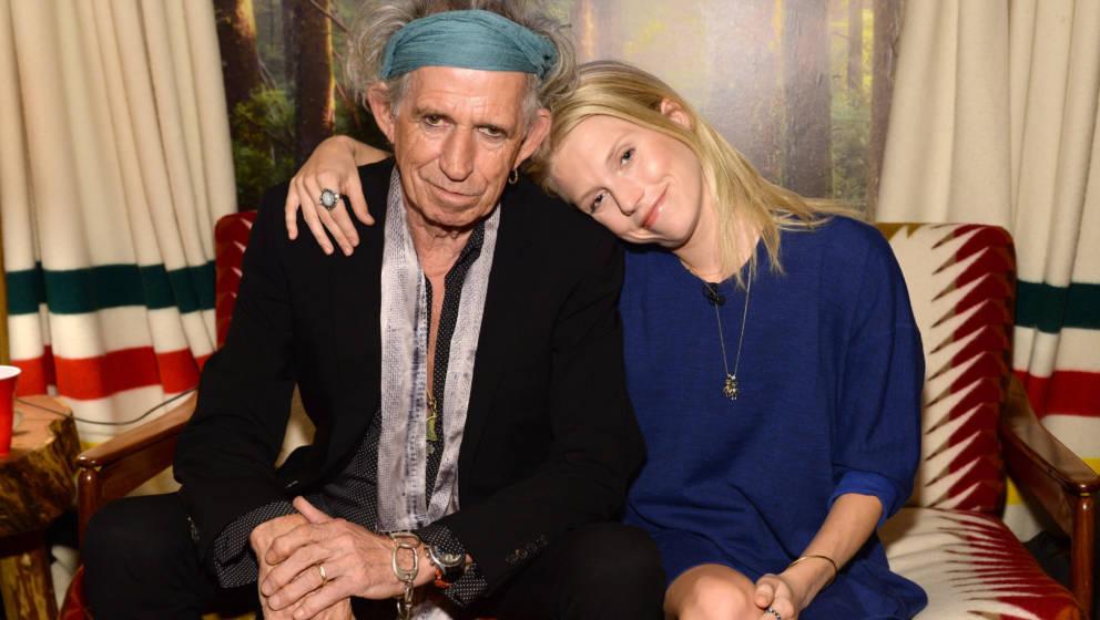 Keith Richards und seine Tochter Theodora