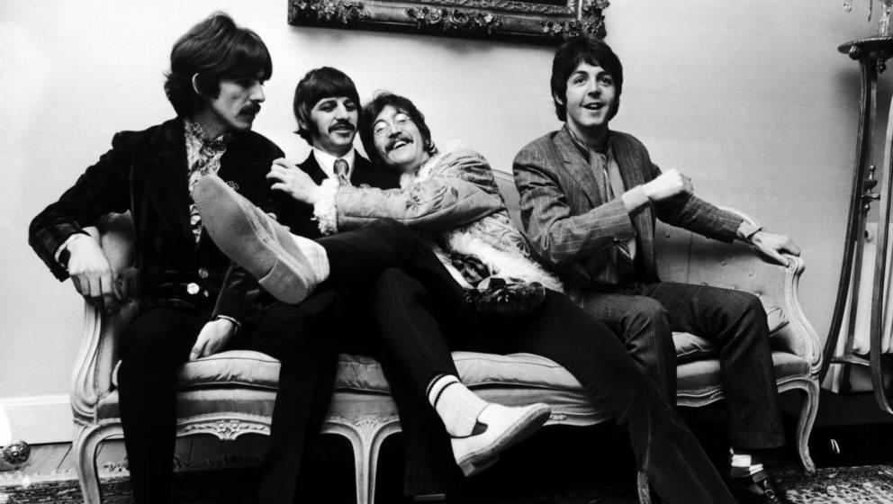 The Beatles kurz vor der Veröffentlichung von 'Sergeant Pepper's Lonely Hearts Club Band'