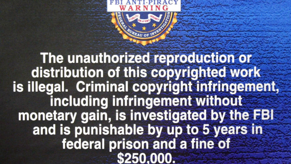 Illegale Streams: FBI anti-piracy warning