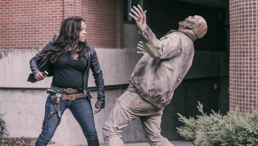 Z NATION -- 'Killing All the Books' Episode 505 -- Pictured: Kellita Smith as Warren -- (Photo by: Oliver Irwin/The Global As