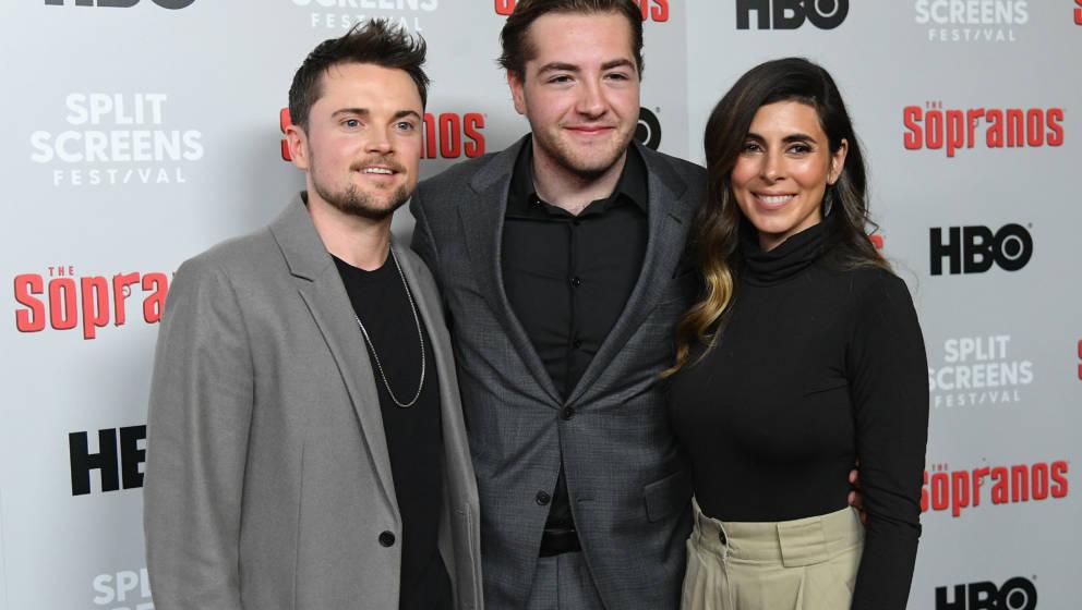 NEW YORK, NEW YORK - JANUARY 09:  Robert Iler, Michael Gandolfini and Jamie-Lynn Sigler attend the 'The Sopranos' 20th Annive