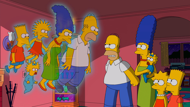 """Vergangenheit und Zukunft der """"Simpsons"""" in einem Bild vereint"""