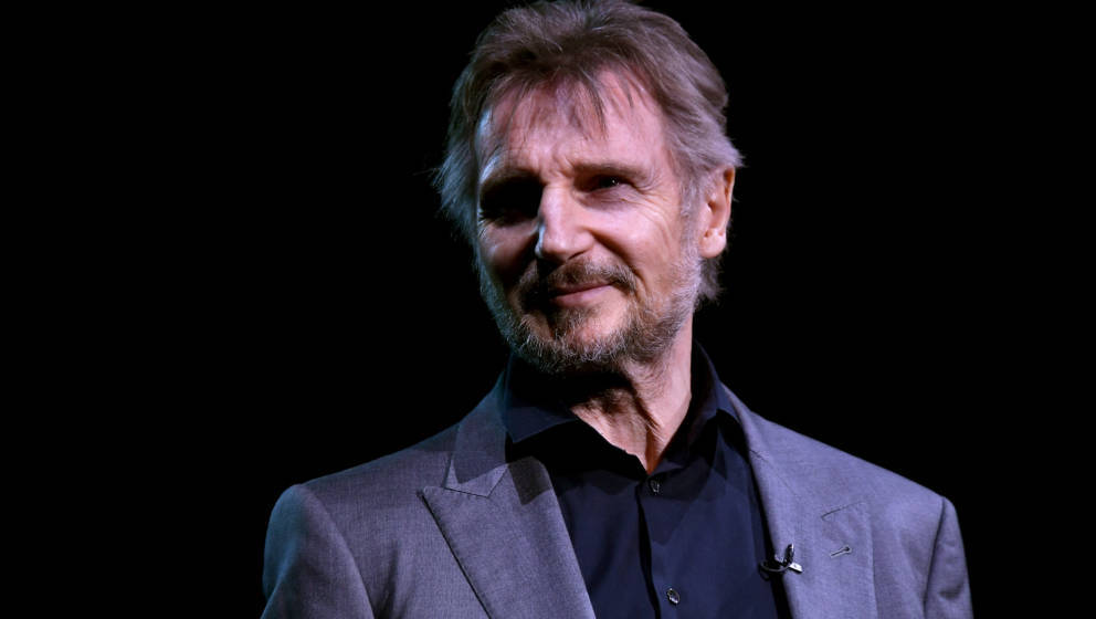 NEW YORK, NY - MAY 21:  Liam Neeson speaks on stage at the 2018 SeriousFun Children's Network Gala at The Ziegfeld Ballroom o