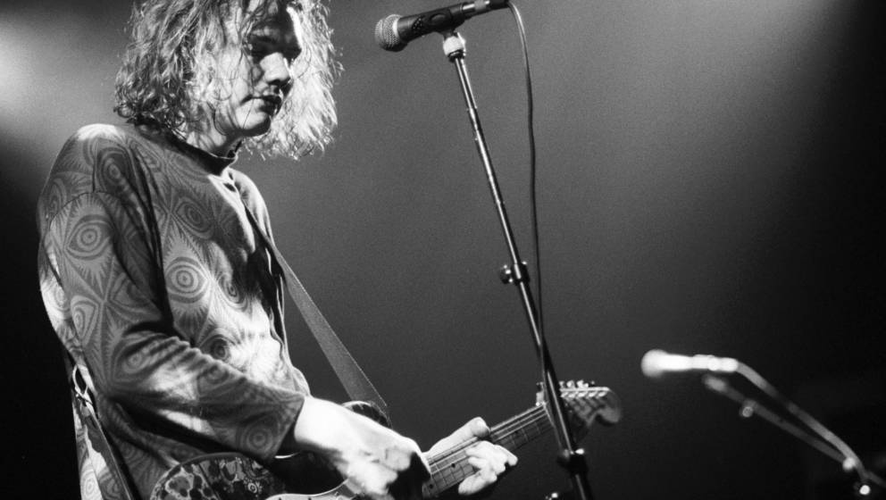 "Billy Corgan mit seiner ""Gish""-Gitarre am 20. Januar 1992, Melkweg Amsterdam."