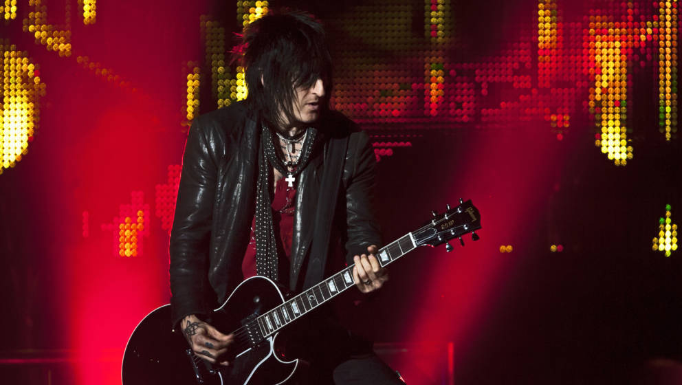 LONDON, UNITED KINGDOM - MAY 31: Richard Fortus of Guns N' Roses performs on stage at O2 Arena on May 31, 2012 in London, Uni