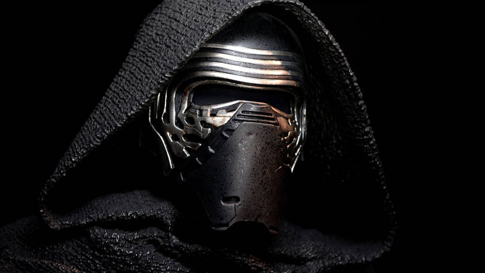LONDON, ENGLAND - JUNE 18: (Images embargoed till 9am, 23rd June 2016) Star Wars: Episode VII character Kylo Ren at the Star