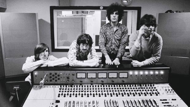 Pink Floyd im Studio. Damals noch mit Syd Barrett.