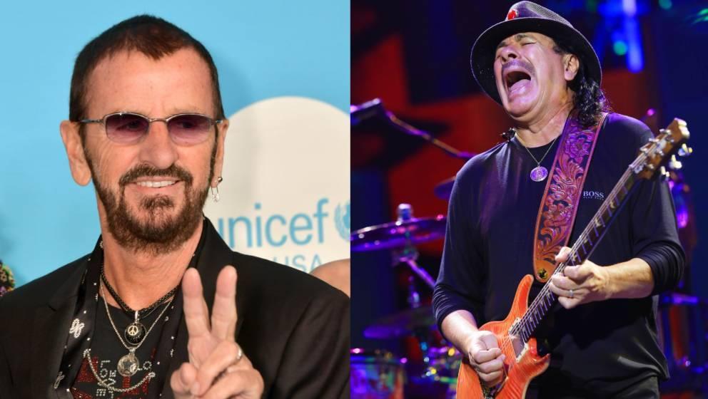 Beatle Ringo Starr und Carlos Santana bei Woodstock 50