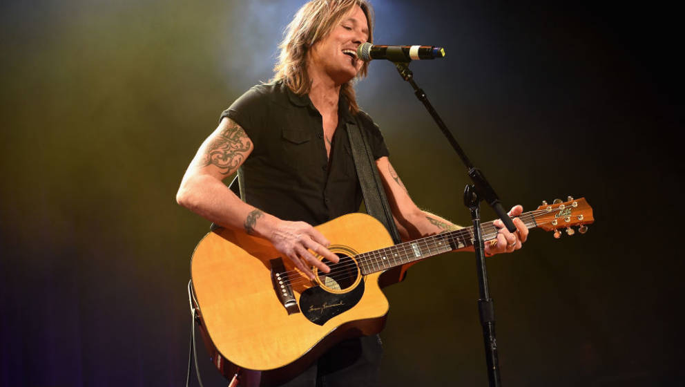 NASHVILLE, TN - JANUARY 22:  Keith Urban performs onstage during the Bobby Bones & The Raging Idiots' Million Dollar Show