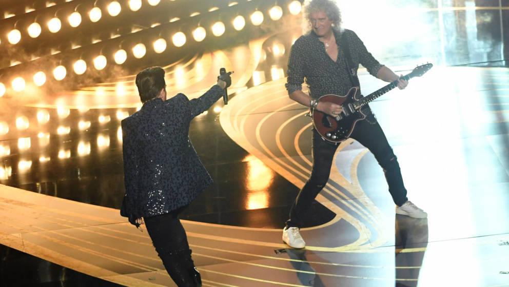 Queen und Adam Lambert bei den Oscars