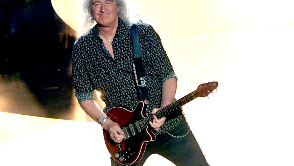 HOLLYWOOD, CALIFORNIA - FEBRUARY 24: Brian May of Queen performs onstage during the 91st Annual Academy Awards at Dolby Theat