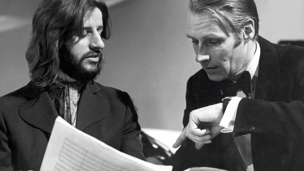 Ringo Starr appearing with George Martin on Yorkshire TV Production 'With a Little Help from My Friends' presented by George