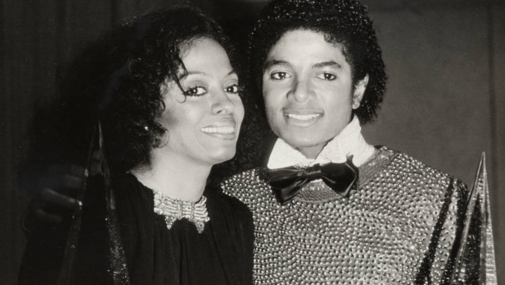 Michael Jackson and Diana Ross during 1981 American Music Awards at Shrine Auditorium in Los Angeles, California, United Stat