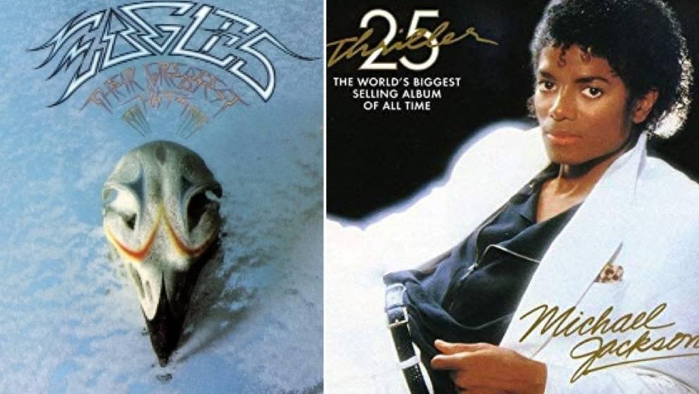 """Welches Album war erfolgreicher: """"Their Greatest Hits (1971-1975)"""" oder """"Thriller""""?"""