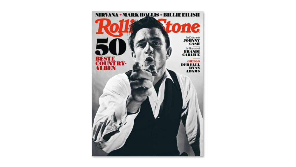 Das Cover der April-Ausgabe des RS: Johnny Cash und die 50 besten Country-Alben
