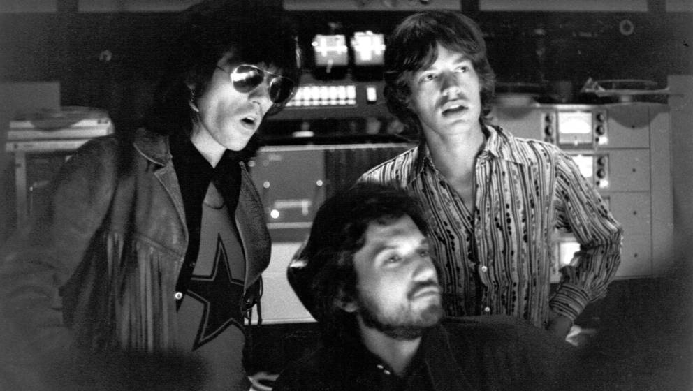LOS ANGELES - OCTOBER 1969: Rock and roll band 'The Rolling Stones' recording the album 'Let it Bleed' at Sunset Sound Studio