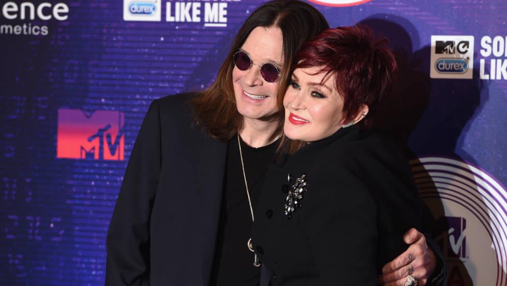 GLASGOW, SCOTLAND - NOVEMBER 09:  Ozzy Osbourne and Sharon Osbourne attend the MTV EMA's 2014 at The Hydro on November 9, 201