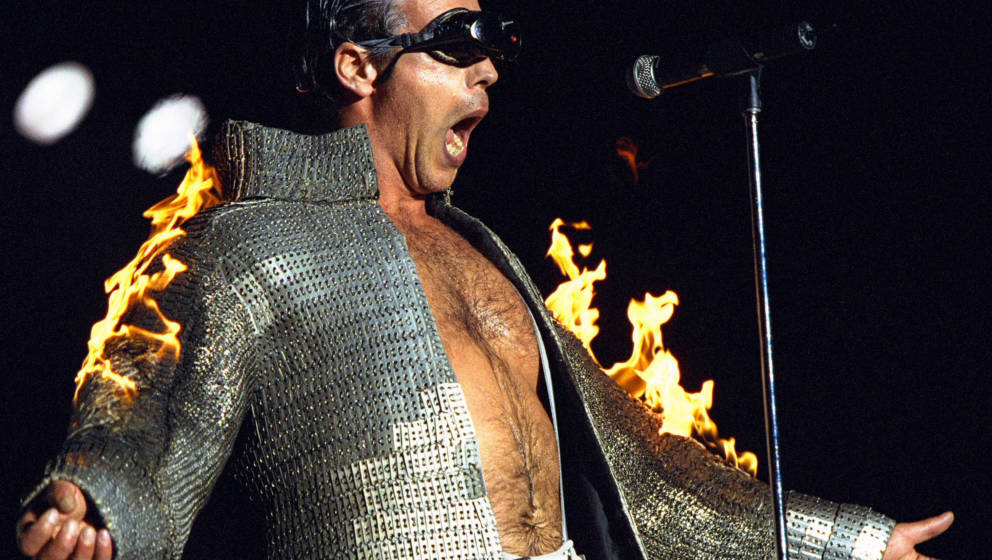 385263 23: Rammstein performs during the 2001 Big Day Out music festival January 28, 2001 in Melbourne, Australia. (Photo by
