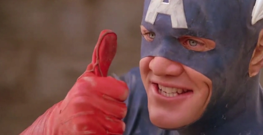Definitiv kein schönes Kostüm: Captain America (1990)