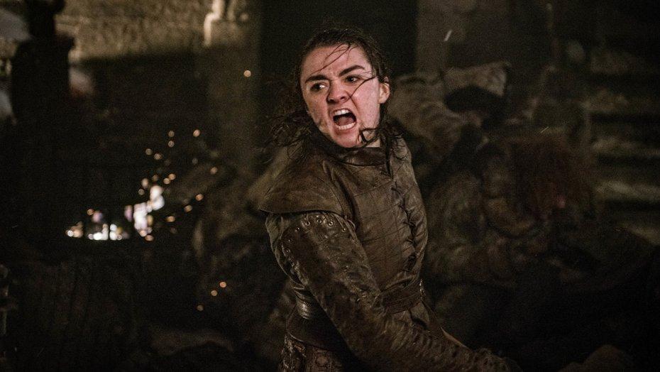 """Arya Stark (Maisie Williams) beendet das """"Leben"""" des Nachtkönigs"""