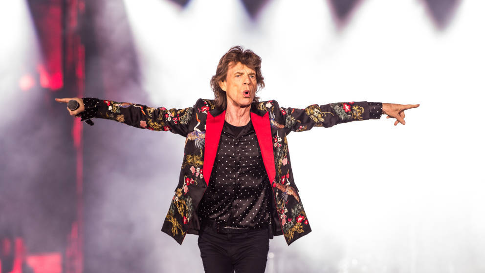 NANTERRE, FRANCE - OCTOBER 19:  Mick Jagger of The Rolling Stones performs live on stage at U Arena on October 19, 2017 in Na
