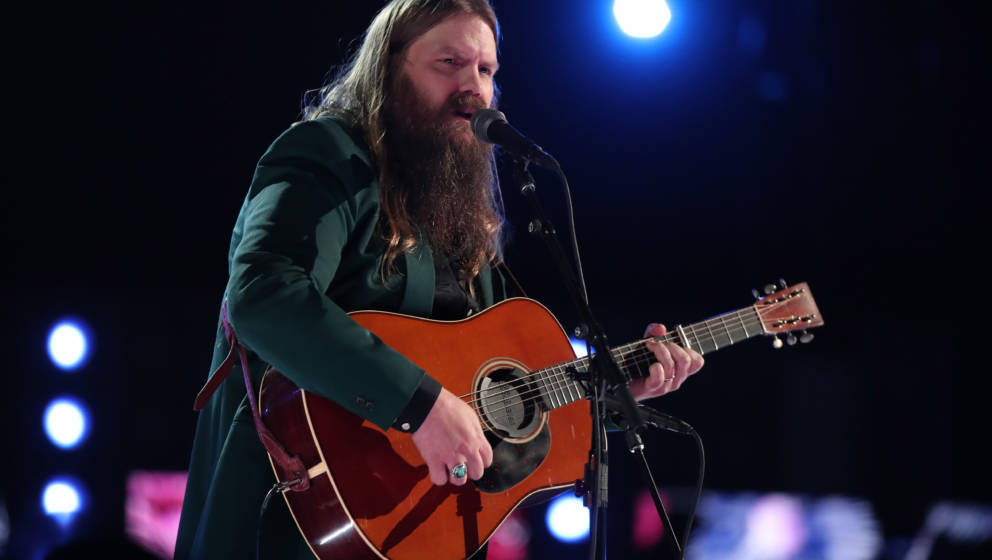 NEW YORK, NY - JANUARY 28:  Recording artist Chris Stapleton performs onstage during the 60th Annual GRAMMY Awards at Madison