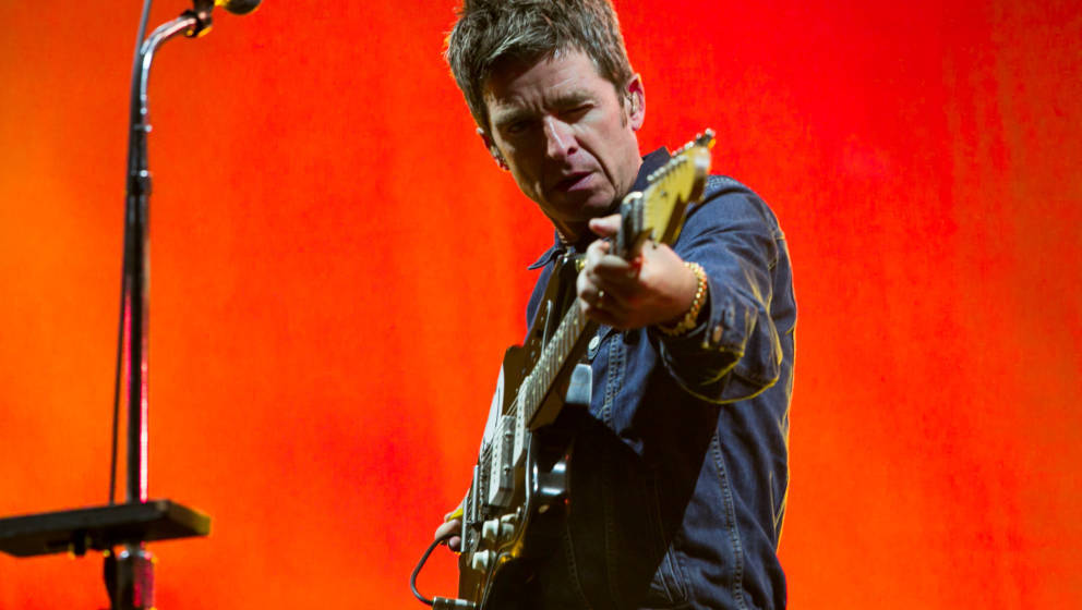 BRISTOL, ENGLAND - SEPTEMBER 01:  Noel Gallagher performs at The Downs Festival on September 1, 2018 in Bristol, England.  (P