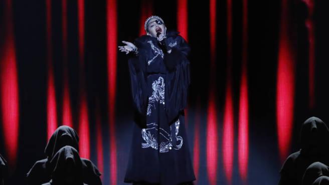 Dünne Stimme: Madonna live beim Eurovision Song Contest