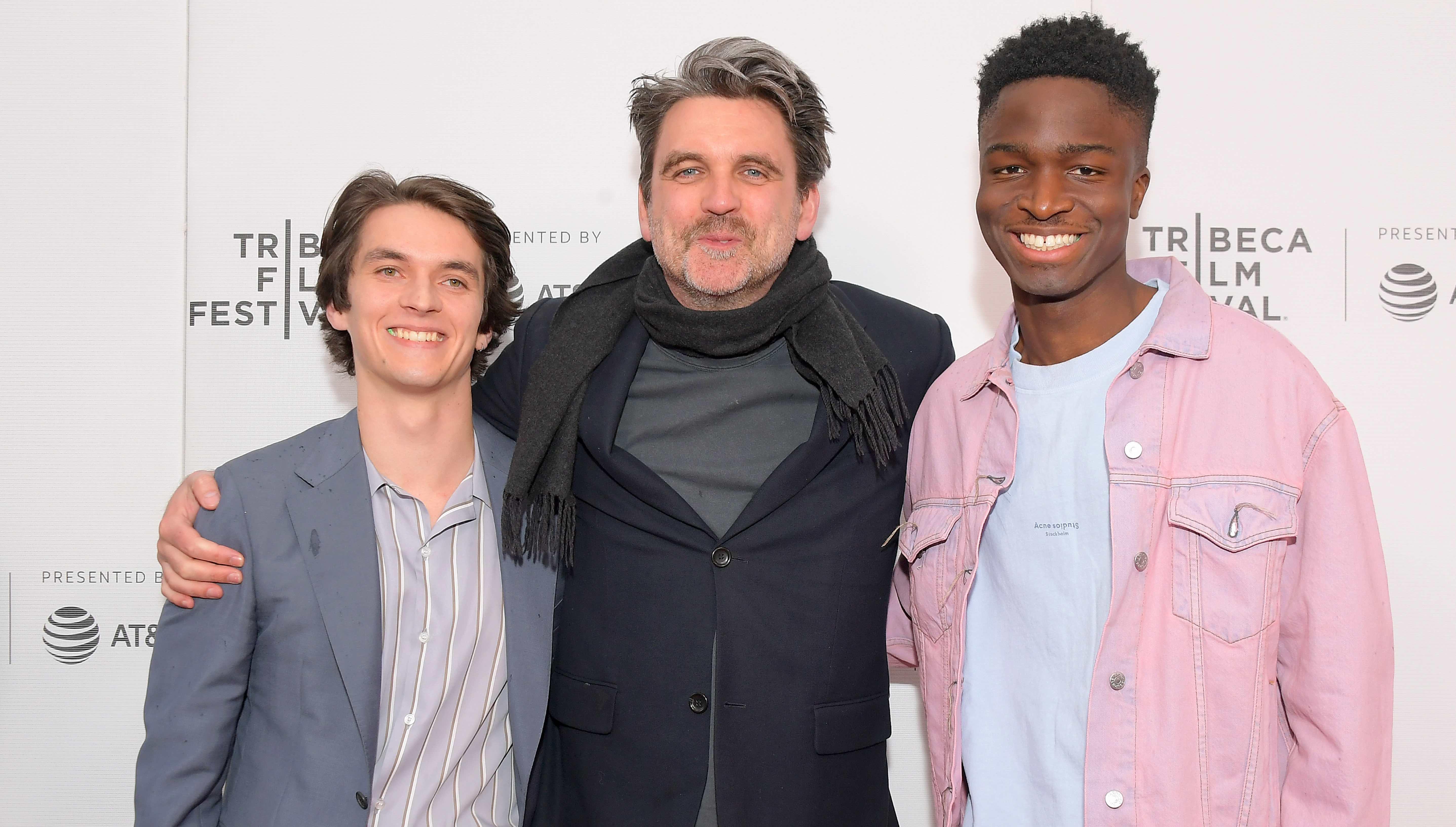 Sebastian Schipper mit seinen beiden Hauptdarstellern