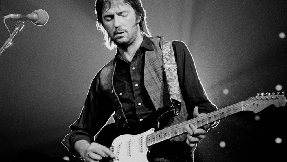British guitarist Eric Clapton performing on stage at the Nassau Coliseum in Long Island, New York on June 30, 1974. (Photo b