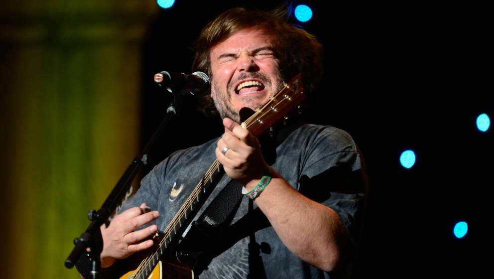 LOS ANGELES, CA - APRIL 04:  Actor/musician Jack Black of Tenacious D performs at KROQ Presents Kevin & Bean's April Fool