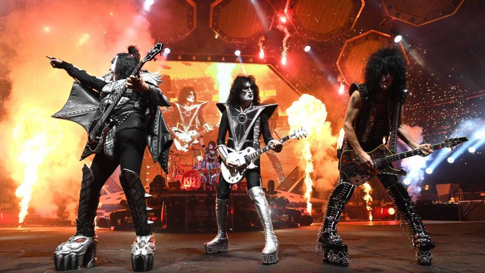 Kiss: Gene Simmons, Eric Singer, Tommy Thayer, Paul Stanley im Madison Square Garden in New York