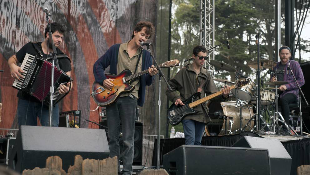 SAN FRANCISCO -  OCTOBER 3:  Felice Brothers performing at Hardly Strictly Bluegrass festival in Golden Gate Park in San Fran