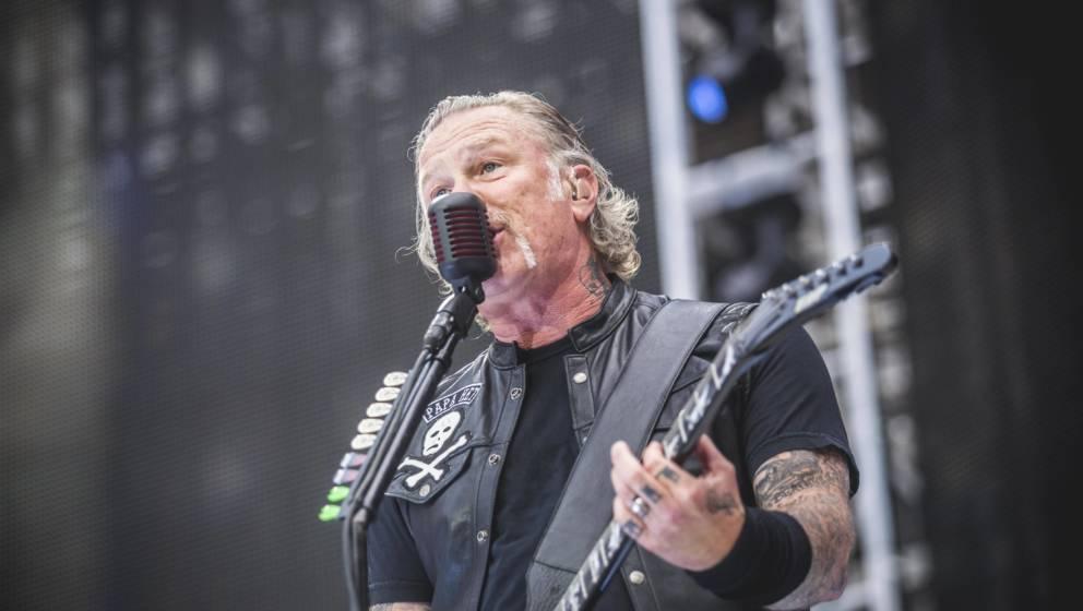 In Feierlaune: Metallica-Sänger James Hetfield in Köln