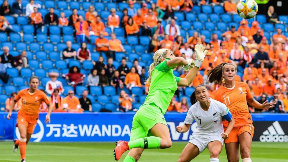 """Während der Frauen-Fußball-WM ist immer wieder das Wort """"Wanda"""" zu sehen"""