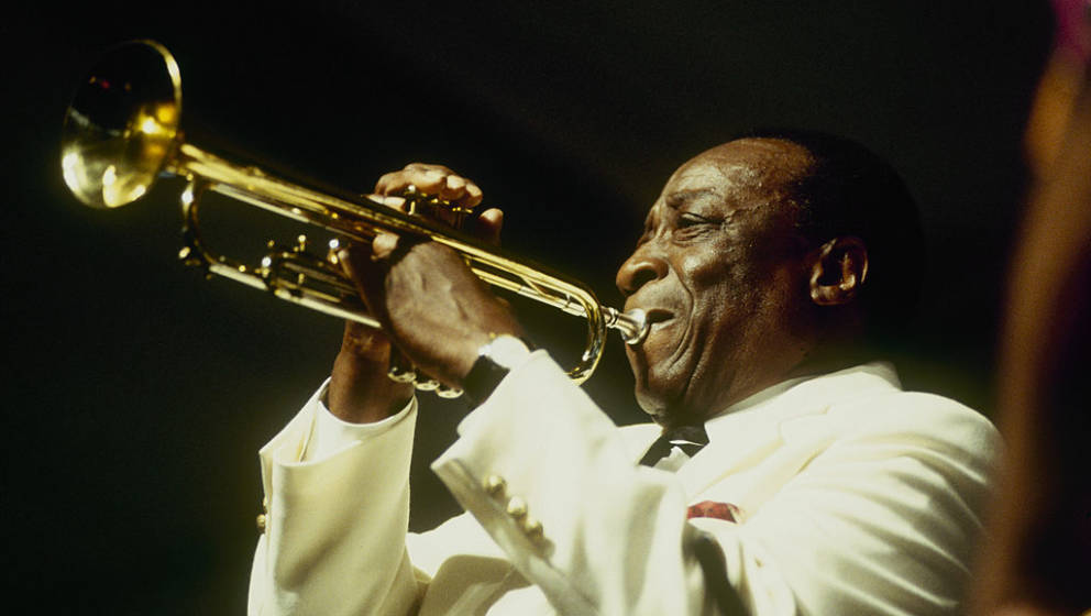 NEW ORLEANS - MAY 01 : Dave Bartholomew performs on stage at the New Orleans Jazz and Heritage Festival in New Orleans, Louis
