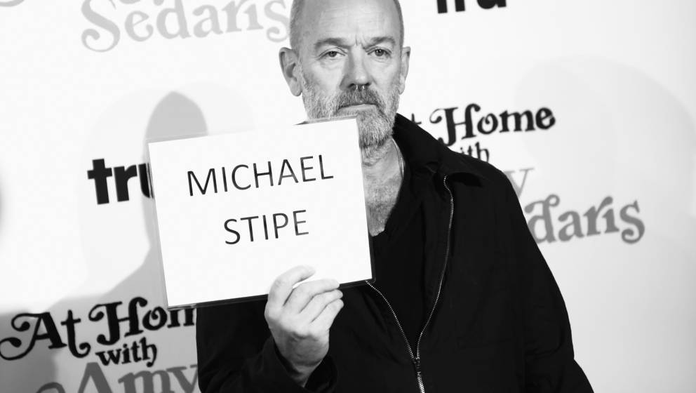 NEW YORK, NY - OCTOBER 19:  (EDITOR'S NOTE: This image has been converted to black and white) Michael Stipe attends the premi