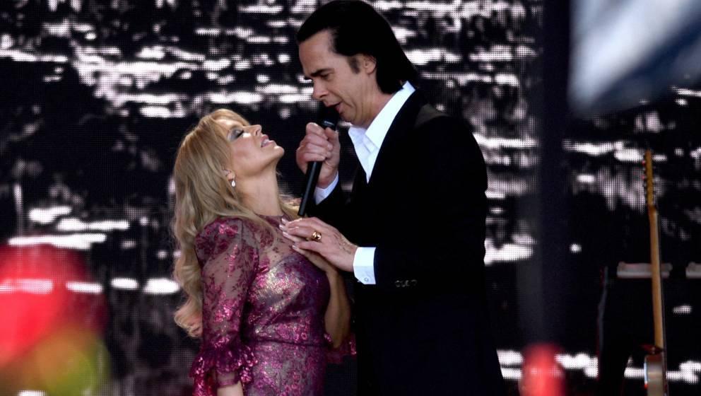 Kylie Minogue und Nick Cave beim Glastonbury Festival 2019