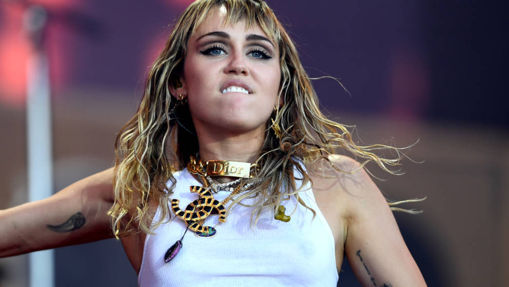 Miley Cyrus beim Glastonbury 2019