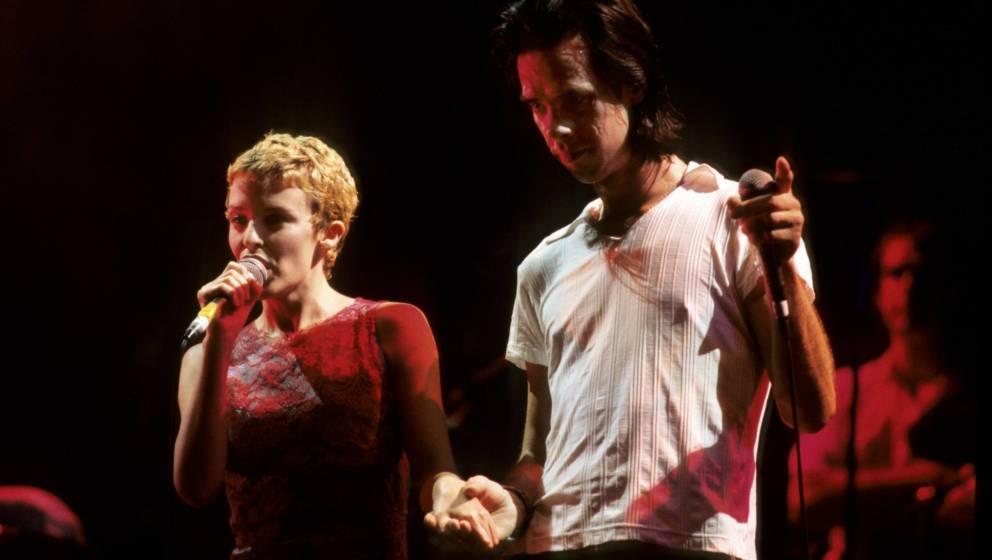 AUSTRALIA - JANUARY 01:  Photo of Nick CAVE; L-R. Kylie Minogue, Nick Cave  (Photo by Bob King/Redferns)