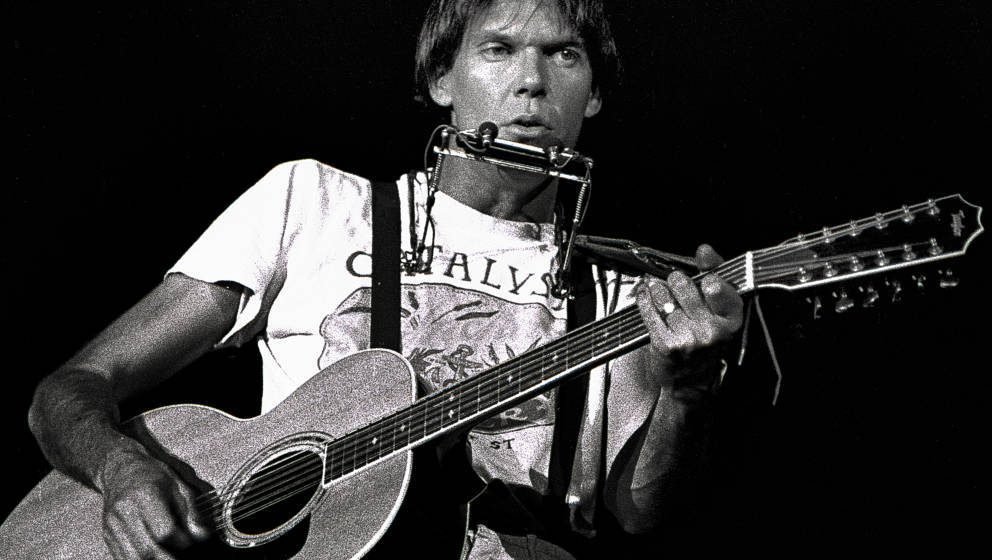 Atlanta - October 10: Singer/Songwriter Neil Young 'Rust Never Sleeps' tour stop at The OMNI Coliseum in Atlanta Georgia Octo